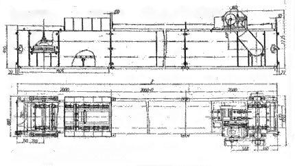 Транспортер скребковый горизонтальный, наклонный 2ТЦС-60
