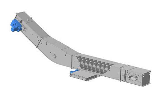 Конвейеры с погруженными скребками типа 2КПС(3)