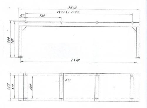 Стол неприводной роликовый СНР-500