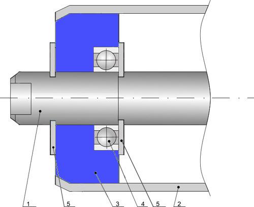 Конструкция ролика с подшипниковым узлом из композитного материала: